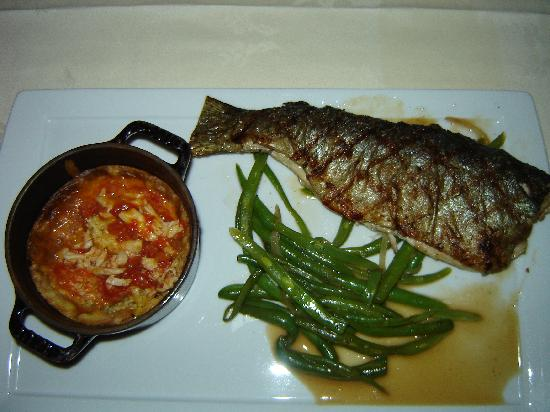 The Ivy Inn Restaurant : Ivy Inn - Rag Mountain Trout with Greenbeans and Tomato and Crab Spoonbread