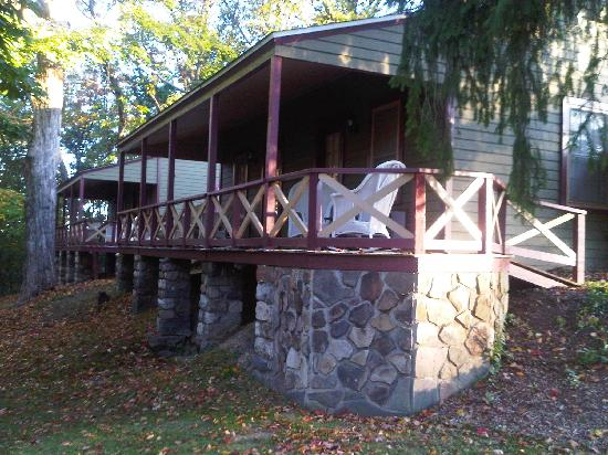 "Stroudsburg, PA: One of the ""cabins"" on campus.  We had one of the four rooms in this cabin."