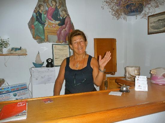 Arian Hotel: Maria..the wonderful owner!