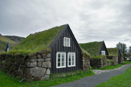 Skogar, Island: Turf Buildings