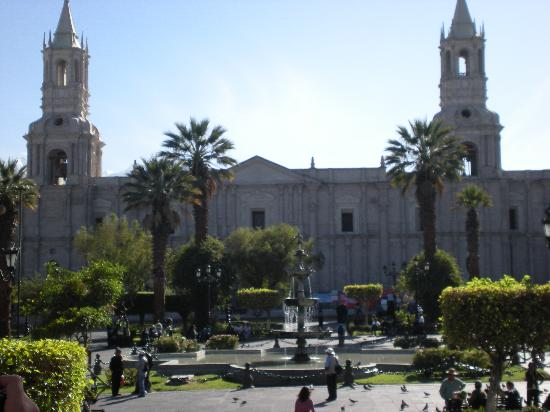 Plaza and Cathedral at Arequipa