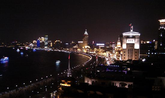The Peninsula Shanghai: Bund view from Sir Elly's Bar terrace