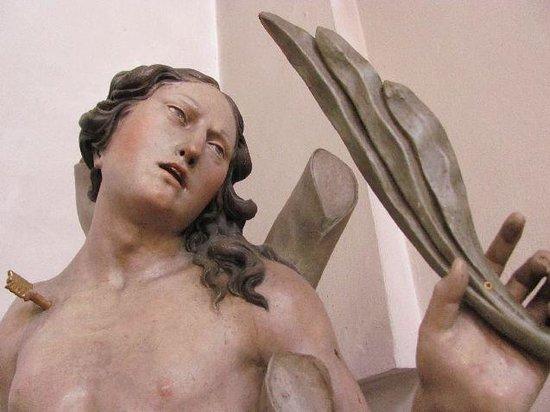 St. Paul Church: sculpture near a side altar