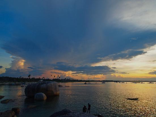 Belitung Island, Indonesia: blue sky, chasing sunset