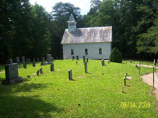 Gatlinburg, Τενεσί: an old church and cemetary