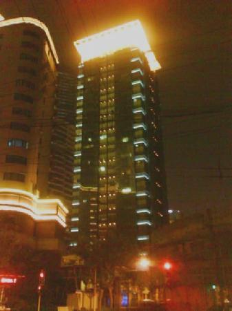 World Union Service Apartment Mosike: Hotel building at night