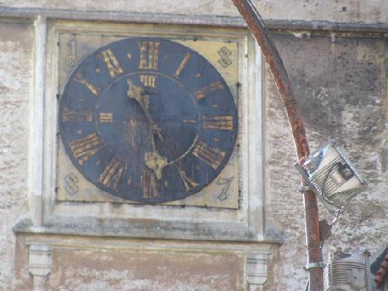 Mary Magdalena church: clock detail