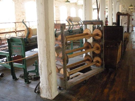 Willamette Heritage Center: inside mill bldg