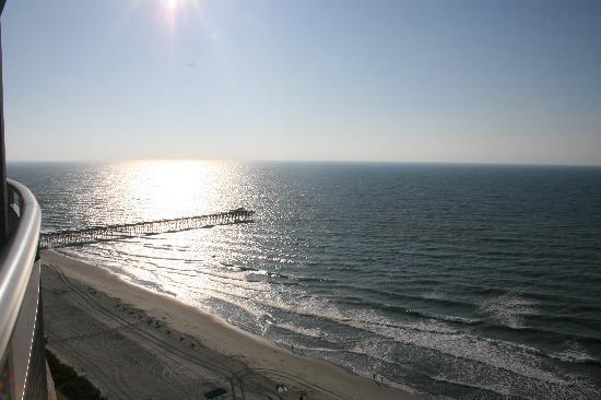 Oceans One Resort: View of the pier from the balcony
