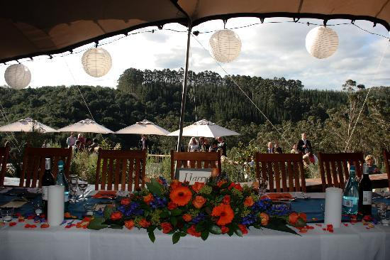 Knysna Elephant Park Lodge: Main table
