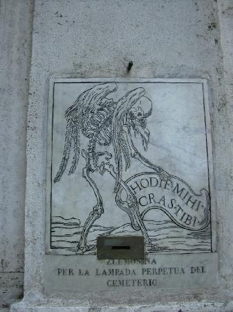 Rom, Italien: Inscripcion de santa maria de la muerte