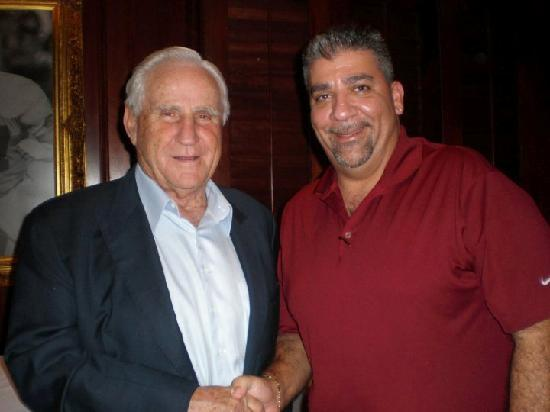 Shula's Steak House - Naples: Coach Shula & John Rossi at Shula's Naples
