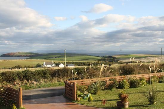 Mull of Galloway Holidays: View from front of house looking towards Mull of Galloway lighthouse and Isle of Man.