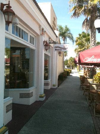Back Eddy Bistro: Located on the west end of Miami Avenue's shops in a 1920s building