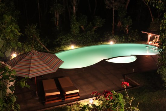 Suntikoppa, India: Night Shot - Pool
