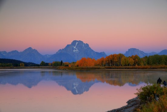 Джексон, Вайоминг:                                                                         Oxbow bend at Dawn - sep
