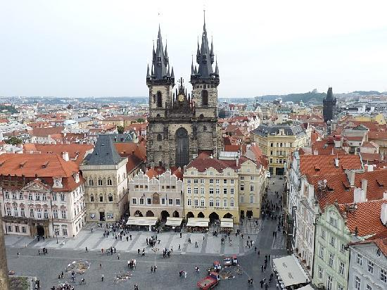 Park Inn Hotel Prague: View from Clock Tower of Old Town Square