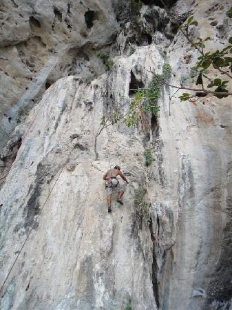 Railay Beach: Me! Rock Climbing on the beach