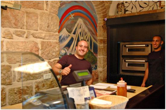 Jacob at Jacob's Pizza - Old City, Jerusale