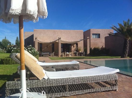 Rose Sultan: L'hotel vu de la piscine