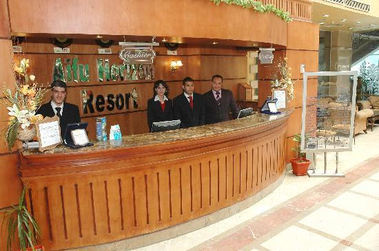 front office desk - Picture of Aifu Resort El-Montazah, Alexandria ...