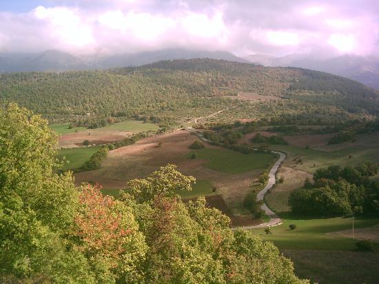 Norcia, Italia: panorama dei sibellini