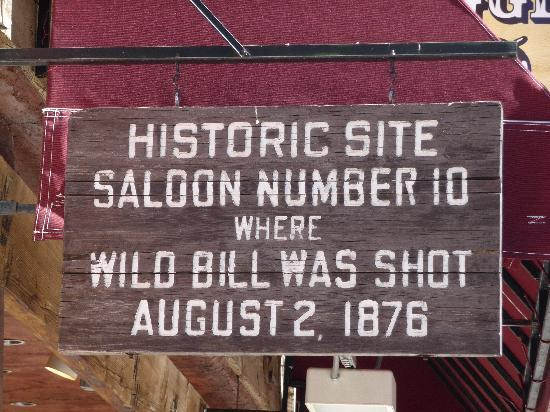 Deadwood, SD: The sign outside original saloon #10