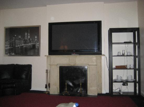 254 East Vacation: T.V. over fireplace