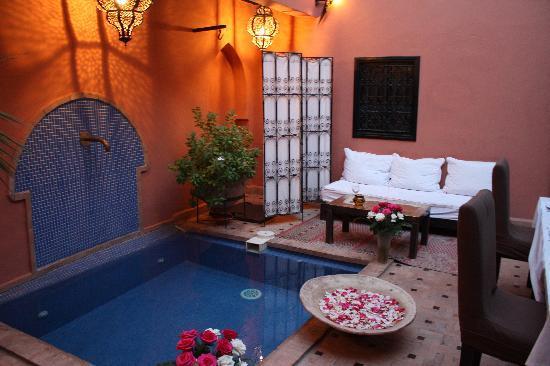 Riad Ajmal : Innenhof/Pool