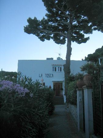Hotel La Tosca: Entrance walkway