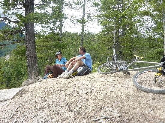 Dreamcatcher Hostel: This is some of the mountain biking I did with Gerald and another guest