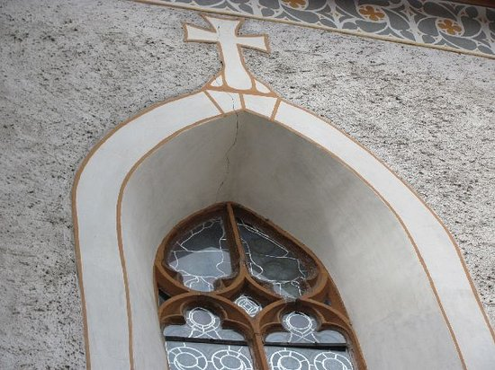Church of the Visitation of the Virgin Mary : arch window