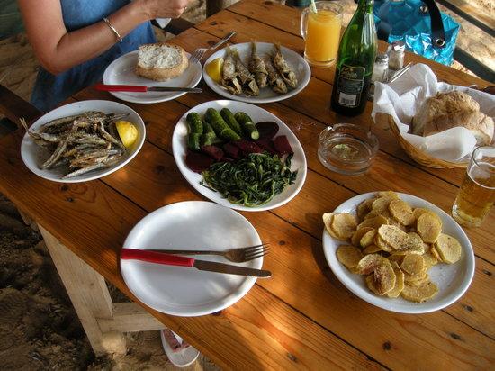 Spiaggia Taverna: Lunch