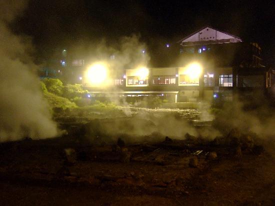 Unzen, Japón: 夜の雲仙地獄