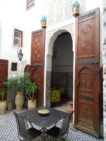 Riad Boujloud: Cour intérieure