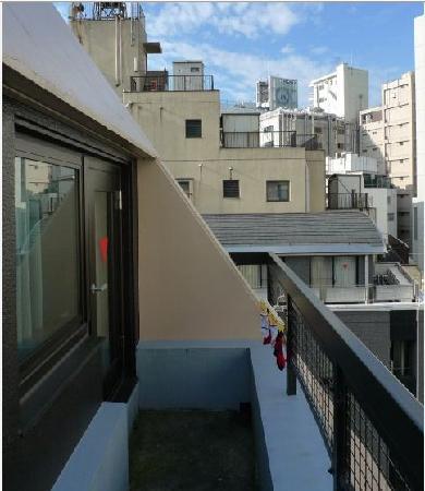 Ueno Touganeya Hotel: balcony for the twin room