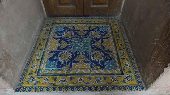 Aali Qapu Palace : Mosaik im Treppenhaus