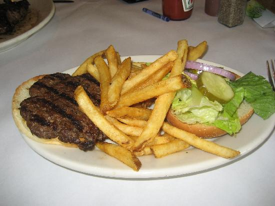 Montana's Rib and Chop House: Burger and fries