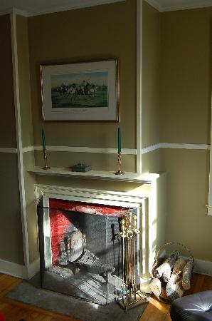 Bennett's 1815 House: Great morning sunlight lit the fireplace in our room...