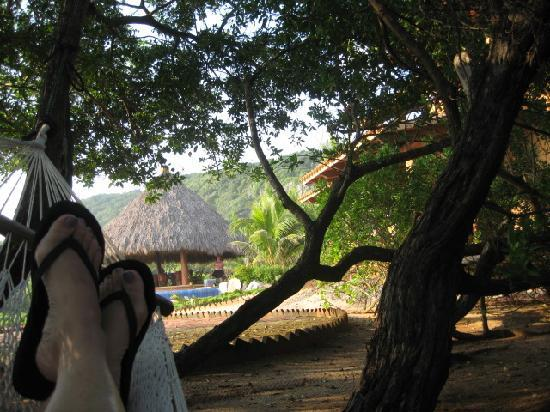 Tres Mujeres Boutique Hotel: relaxing in the hammock
