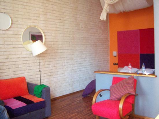 Old Town Designed Apartments : little bedroom corner for kingsize bed