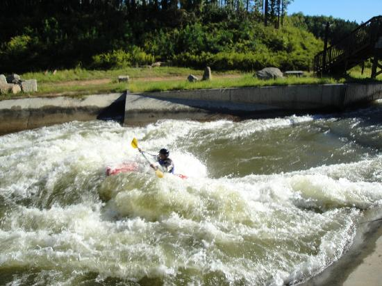 U.S. National Whitewater Center: Great rapid in the classll/lll section at the park