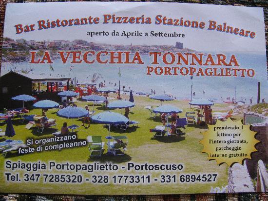 Портоскузо, Италия: ristorante - staz. elioterapica