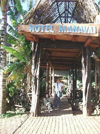 Hotel Manavai: entrada al hotel