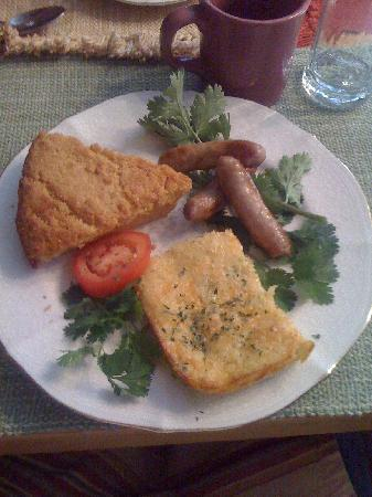 Country Sunshine Bed and Breakfast : My yummy breakfast - main course