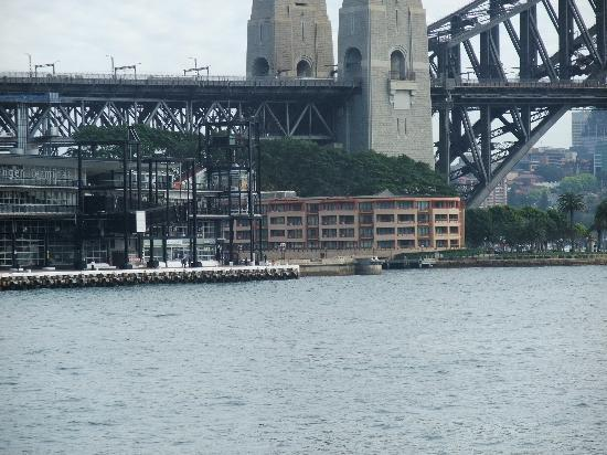 Park Hyatt Sydney: Harbour Bridge with Hotel in Foreground