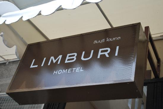 Limburi Hometel The Hotel Name Board