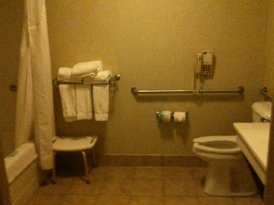 Holiday Inn Express & Suites Clinton: Bathroom (assisted living)