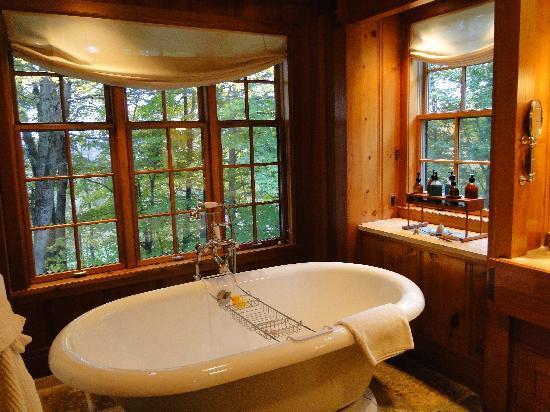 Tub In Master Bath In Chalet Cottage Set In Beautiful