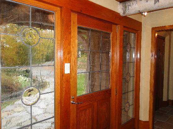 Twin Farms: front door to Chalet Cottage